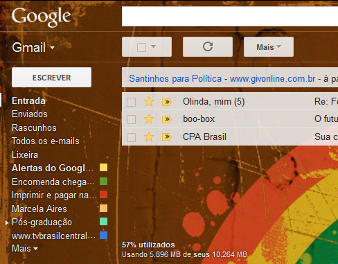 Wallpaper no Gmail