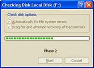 Tools Checkdisk Windows