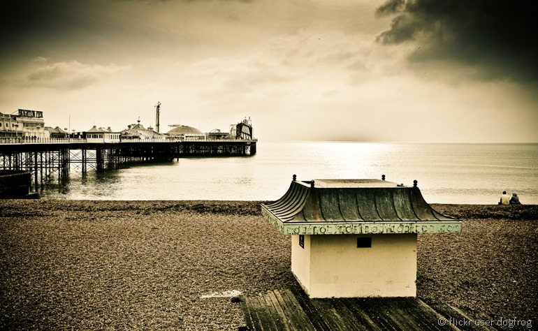 Brighton beach by flickr user dogfrog
