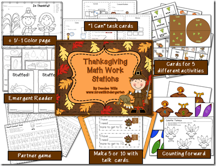 Thanksgiving Math Work Station Preview