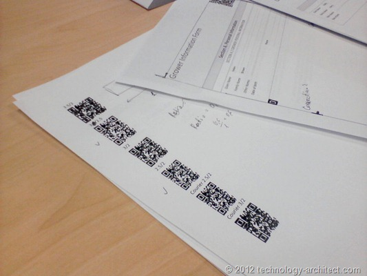 Testing different fonts for QR Code