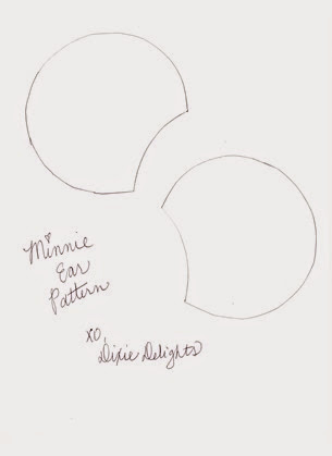 photo regarding Printable Minnie Mouse Ears named Do it yourself Customized Minnie Mouse Ears Dixie Delights