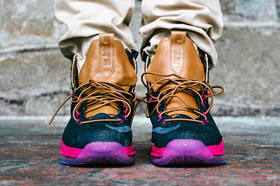 huge selection of aacb1 155d5 Another On Foot Look at Nike LeBron X EXT Denim QS ...