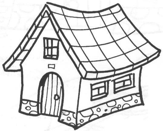Tipos De Casas Para Colorear