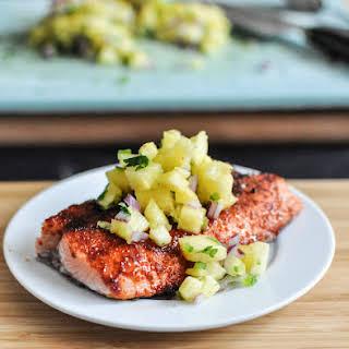 BBQ Spiced Salmon.