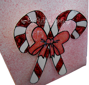 Candy Cane digi Stamp - Platypus Creek Digital - Christmas Treat Box 3