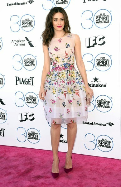 Emmy Rossum attends the 2015 Film Independent Spirit Awards