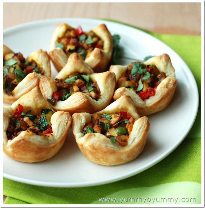 Puff pastry cups