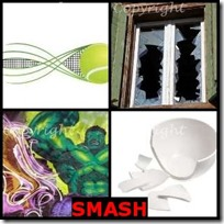 SMASH- 4 Pics 1 Word Answers 3 Letters