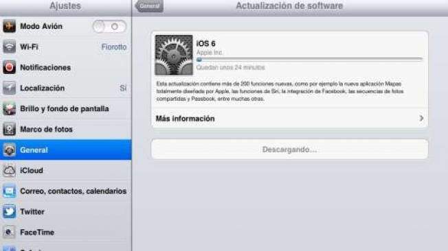 actualizar el iphone, ipad a iOS 6 con itunes