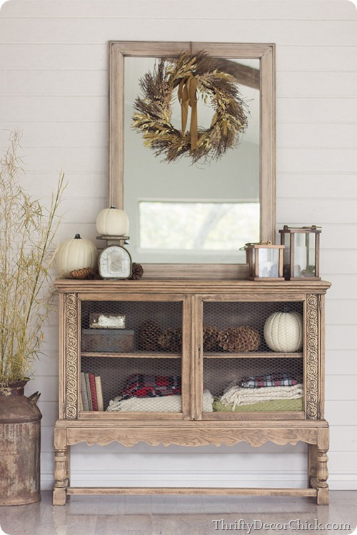 natural wood cabinet