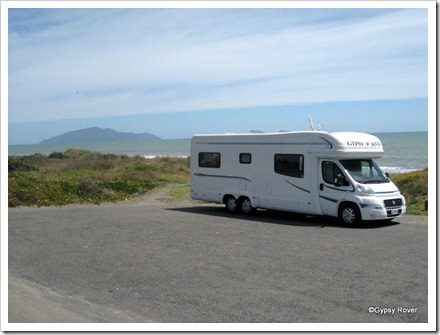 Gypsy Rover at Otaki with Kapiti Island in the background