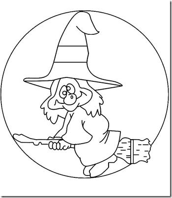 Dibujos De Brujas Con Escoba Para Colorear Colorear
