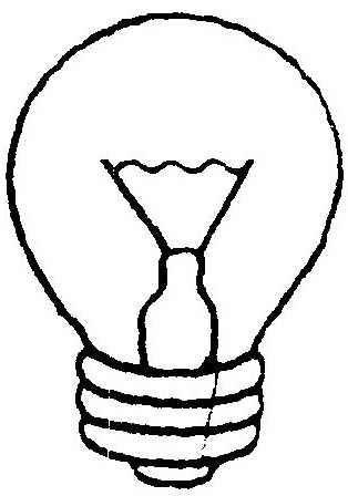 desenho lampada para colorir  u2013 colorir e aprender
