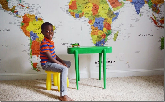 #Mapmural in kids space- design addict mom