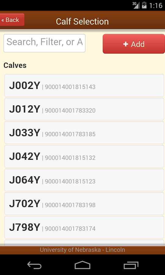 Mobile Cattle Tracker- screenshot