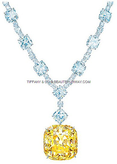 Tiffany Diamond 175th Anniversary Lucida 20 diamonds, 58 brilliant-cut diamonds spectacular platinum necklace 20 white 100 carats Tiffany & Co.128.54-carat Legendary One world's largest finest fancy yellow diamonds