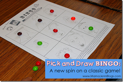 Pick and Draw BINGO: A new spin on a classic game!