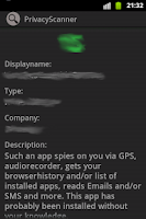 Screenshot of Privacy Scanner (Antispy) Free
