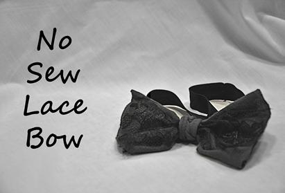 No Sew Lace Bow KNIT