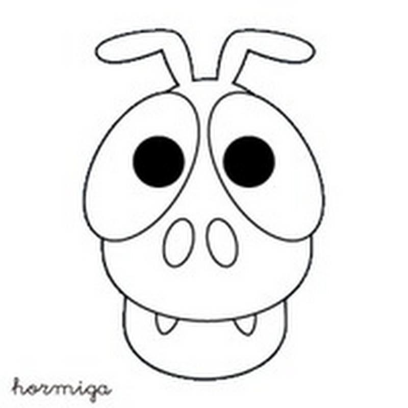 Máscara de hormiga para colorear
