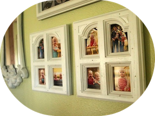 Cabinet Doors into Picture Frames!