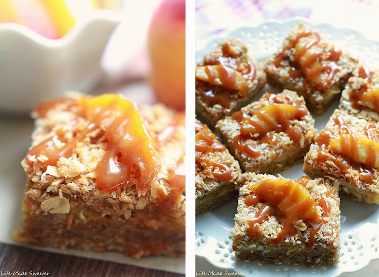 Coconut Peach Streusel Bars Collage - Life Made Sweeter.jpg
