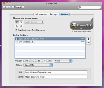 CornerClick - Mac Hot Corner Customizer