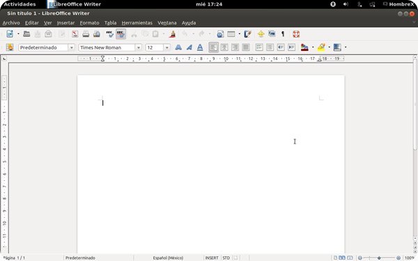 Libreoffice writer Ubuntu