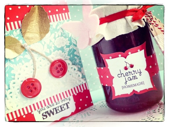 cafe creativo - card - marmellata ciliegie - big shot