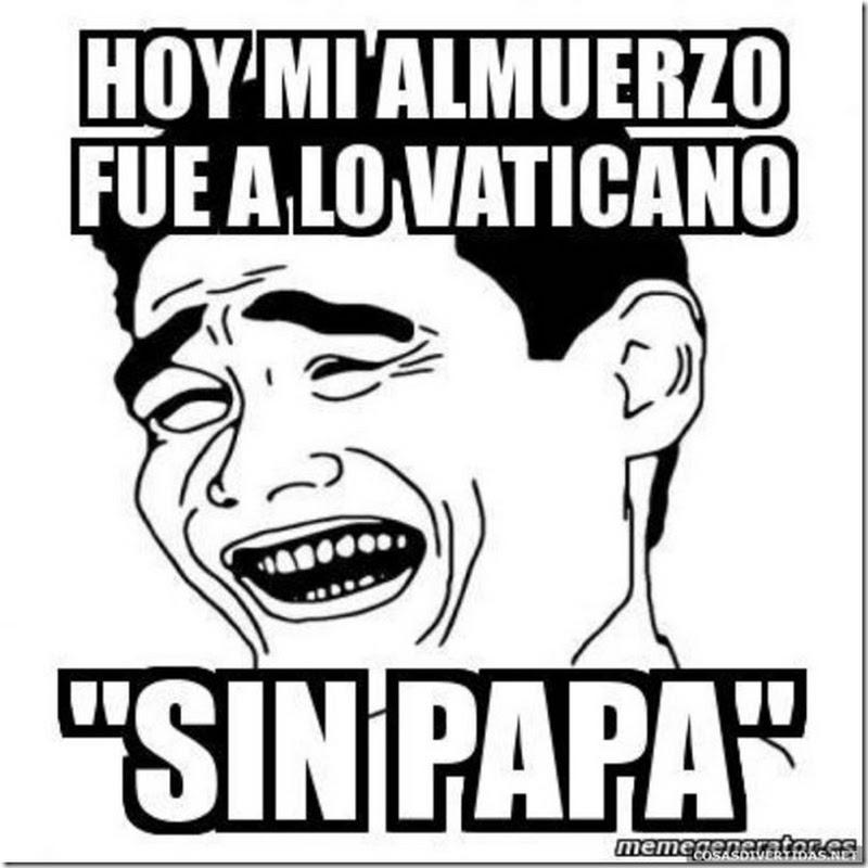 Renuncia del Papa, humor y fotomontajes Papa Benedicto