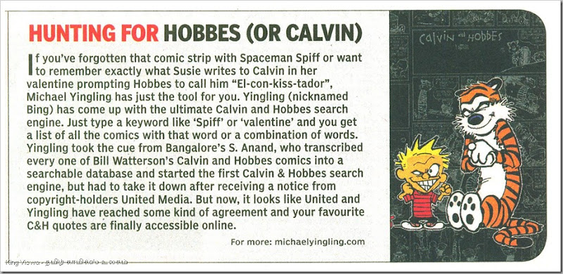 Times Of India Chennai Edition Page No 13 Dated 10th Dec 2012 Sunday Calvin and Hobes  Search
