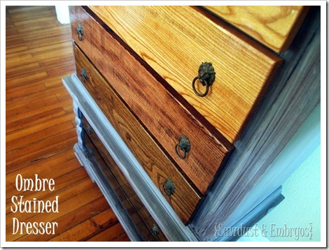 Ombre Stained Dresser