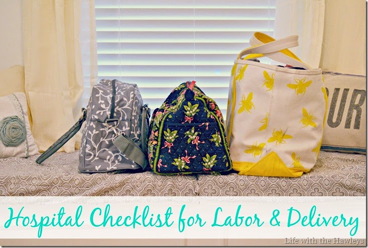 Hospital Checklist for Labor and Delivery