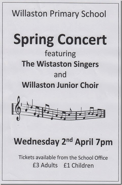 Willaston Primary School – Spring Concert – Wed 2 April 2014