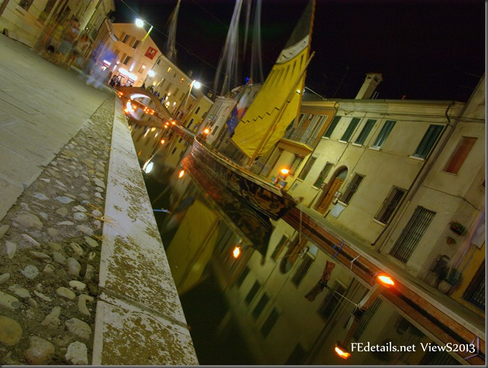 Comacchio By Night, Ferrara, Italy. Photo 1