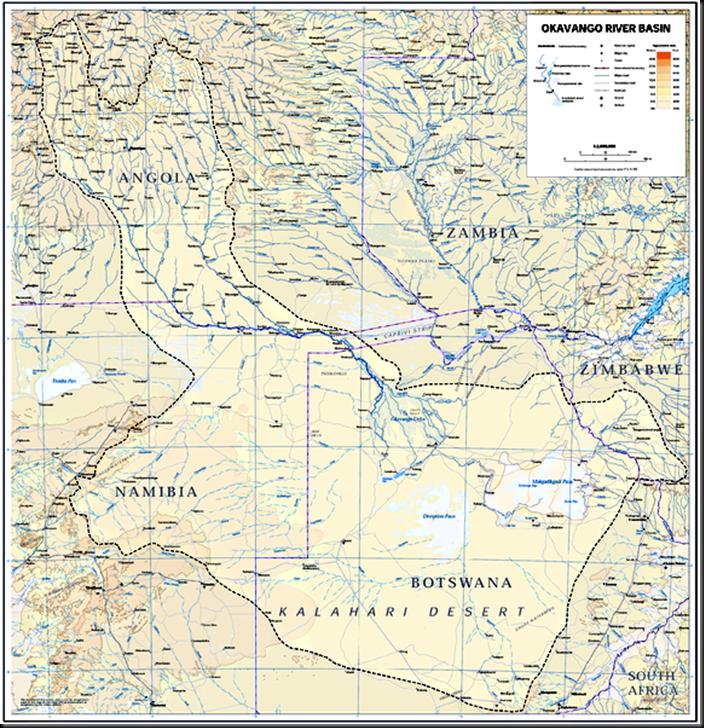 GIGANTES QUE DESAPARECEN: 09/01/11 Okavango Basin Map