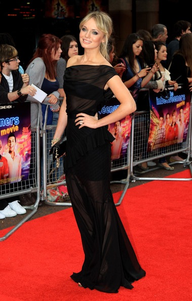 Laura Haddock attends the world film premiere of The Inbetweeners Movie