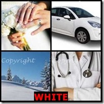 WHITE- 4 Pics 1 Word Answers 3 Letters