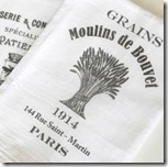 Flour sack towels with French lettering