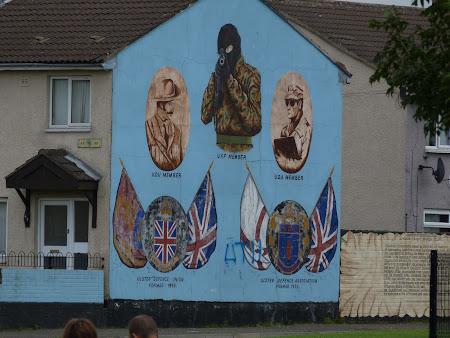 obiective turistice Belfast: luptatori militiile protestante
