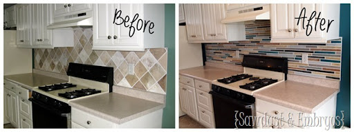 can you paint tile backsplash