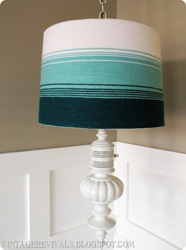 Ombre Yarn Lampshade From Vintage Revivals. Ombrelampshade