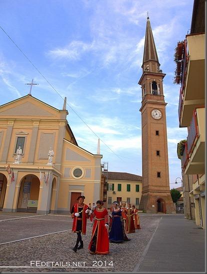 Campanile di Copparo oggi, provincia di Ferrara, 2014