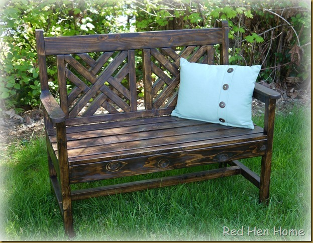 Red Hen Home woven bench 2