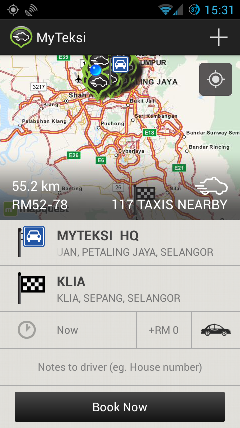 MyTeksi: Book a Taxi - screenshot