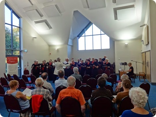The Wistaston Singers perform at St Peters Church Hall Elworth