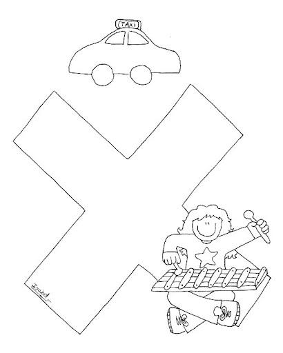X Abecedario Profesiones Dibujalia Dibujos Para Colorear