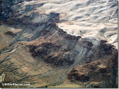 Qumran cliffs with caves aerial, tb010703350