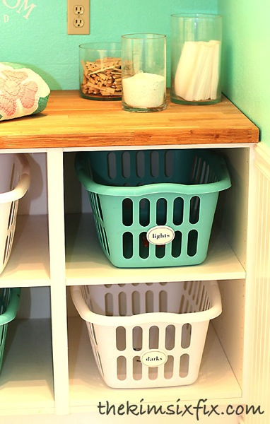 Laundry basket cubbies